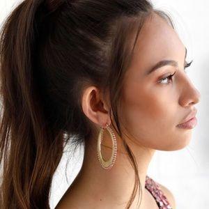 Lulu's Hoop Earrings w/ Pearls